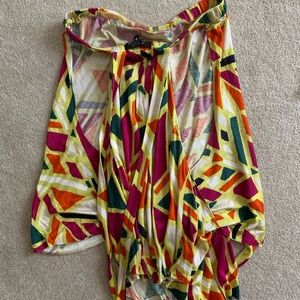 T-bags colorful summer halter top size S